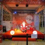 Visita de Papá Noel en centro comercial