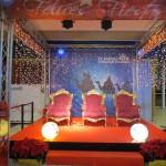 Ambientación navideña en centro comercial