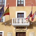 Banderas con mástiles para balcones