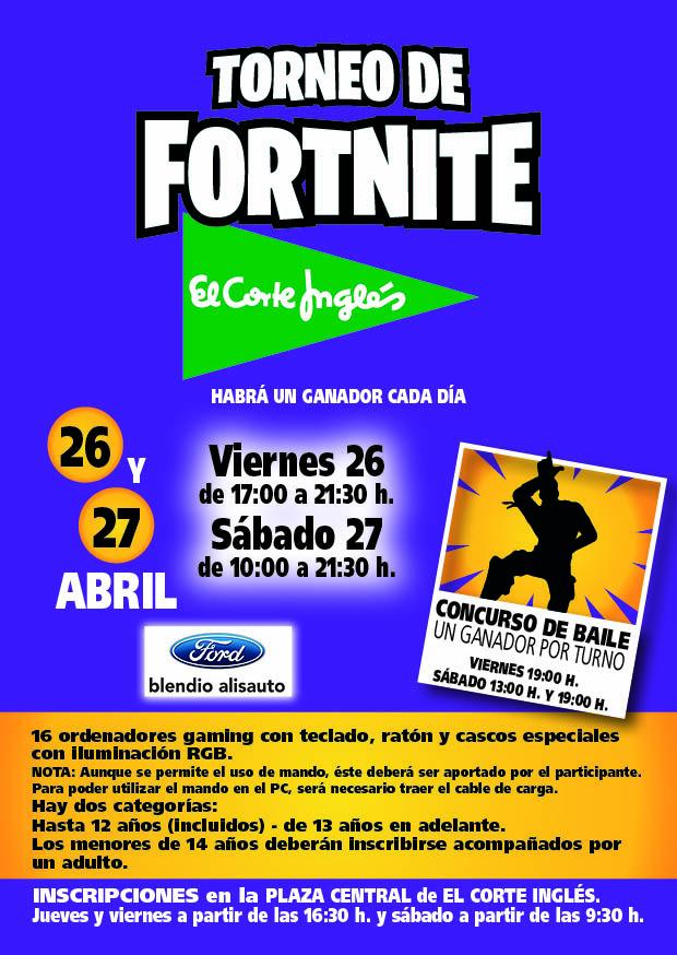 Cartel torneo Fortnite Santander